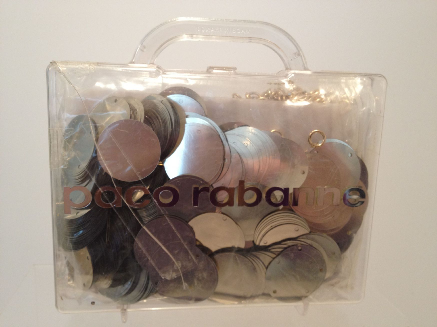 Paco rabanne do it yourself rhodoid plastic disc dress kit in paco rabanne do it yourself rhodoid plastic disc dress kit in plastic case sold solutioingenieria Image collections